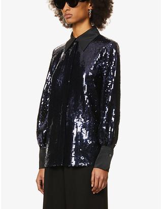 Victoria Victoria Beckham Loose-fit sequin-embellished shirt