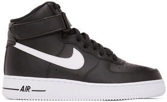 Nike Black and White Air Force 1 High 07 Sneakers