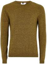 Topman Yellow And Black Twist Side Ribbed Jumper