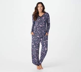 Carole Hochman Silky Jersey Pajama Set with Lace Trim