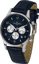 Jacques Lemans London 1-1654 °C – Chronograph – Watch Men – Quartz – Blue Dial – Bracelet Cuir Bleu