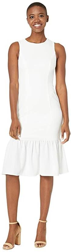Adrianna Papell Textured Crepe Flounce Dress Women's Dress
