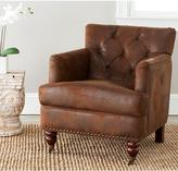 Safavieh Colin Distressed Brown Leather Arm Chair