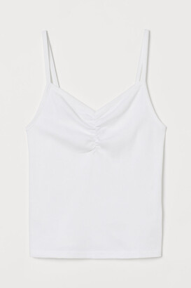 H&M Ribbed Tank Top - White
