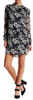 Astr Long Sleeve Floral Print Dress
