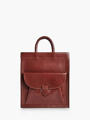 Jigsaw Aden Leather Tote Bag, Oxblood