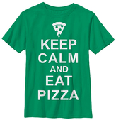 Fifth Sun Kelly Green 'Keep Calm & Eat Pizza' Tee - Youth