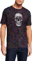 Robert Graham Men's Hell Raiser Paisley Skull Graphic T-Shirt