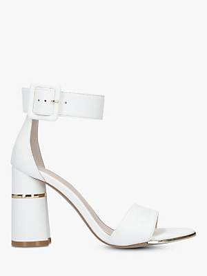 bd2fa7ed9e127 at John Lewis and Partners · Carvela Gaye Block Heel Sandals, White