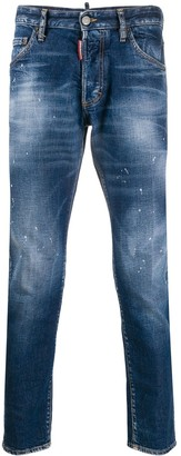 DSQUARED2 Icon paint-splattered jeans