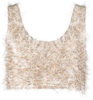 Nanushka Textured Cropped Tank Top