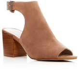 Kenneth Cole Val Suede Block Heel Sandals