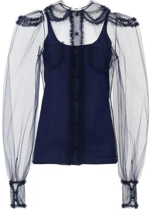 Fendi Sheer Panelled Shirt