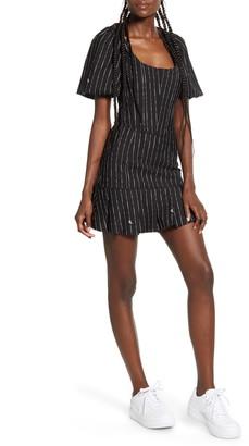 I.AM.GIA Chelsey Puff Sleeve Pinstripe Minidress