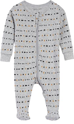 Petit Lem Dot Print Organic Cotton Fitted One-Piece Pajamas