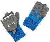 John Lewis Children's Shark Flip Gloves, Grey/Blue