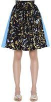 Peter Pilotto Taffeta & Jacquard Mini Skirt W/ Lurex