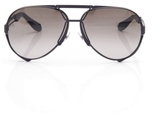 Givenchy 65mm Aviator Sunglasses in Black