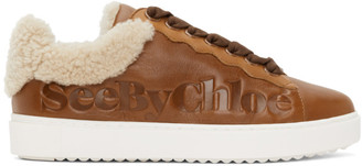 See by Chloe Brown Shearling Essie Sneaker