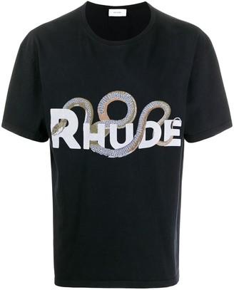 Rhude snake-print short sleeved T-shirt