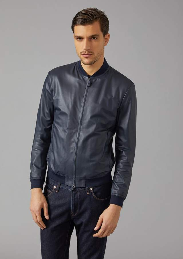 Giorgio Armani Matt Leather Jacket