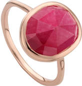 Monica Vinader Siren 18ct rose gold-plated stacking ring