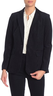 Frame Velvet Textured Stripe Blazer