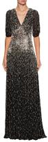 Jenny Packham Silk Embellished Gown