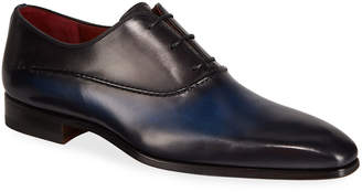 Magnanni Men's Bol Wind Seamed Leather Dress Shoes