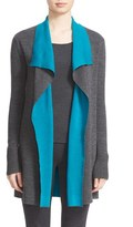 St. John Women's Wool Reversible Waterfall Cardigan