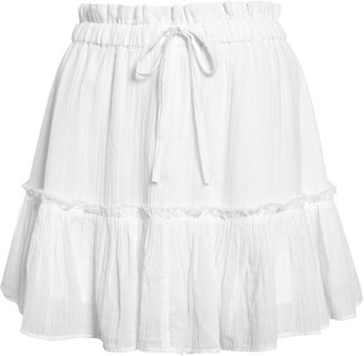 BP Tiered Ruffle Miniskirt