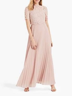Phase Eight Elisabetta Lace Overlay Maxi Bridesmaid Dress
