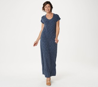 Isaac Mizrahi Live! Petite SOHO Ribbed Maxi Dress with Side Slits