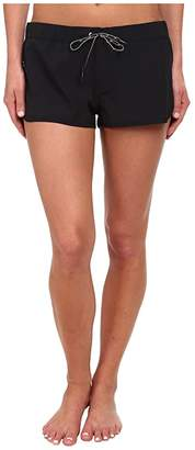 Speedo 4-Way Stretch Boardshort (Black) Women's Swimwear