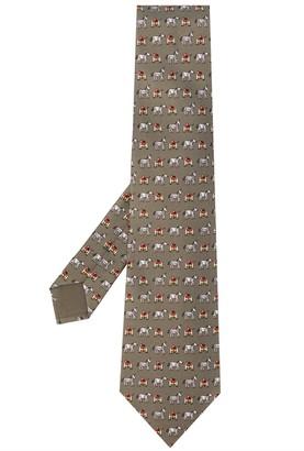 Hermes Pre-Owned Racing Horse Print Tie