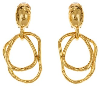Oscar de la Renta Hammered Earrings