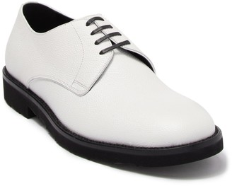 Dolce & Gabbana Textured Leather Plain Toe Lace-Up Derby
