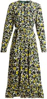 Proenza Schouler Floral-print Crepe Midi Dress - Womens - Black Multi