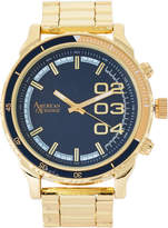 American Exchange WN5428 Gold-Tone Necklace & Watch Set