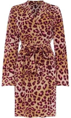 Maidenform Fleece robe with hood