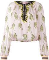 Giamba tiger print blouse