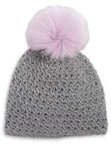 Surell Girl's Faux Fur-Trimmed Knit Beanie