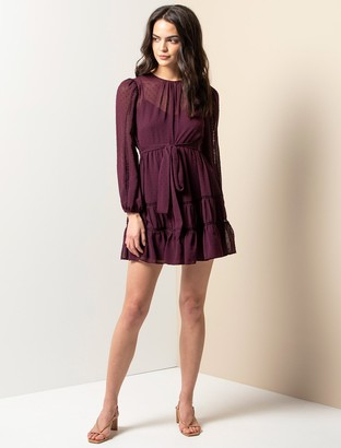 Ever New Fergie Petite Lace Long Sleeve Dress