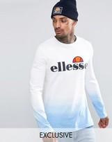 Ellesse Long Sleeve T-Shirt In Dip Dye