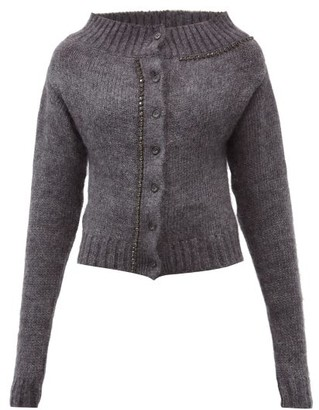 No.21 No. 21 - Crystal-embellished Cardigan - Charcoal