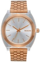 Nixon Time Teller Acetate - Rose Gold/Clear