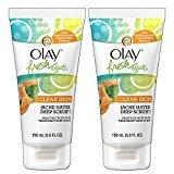 Olay Fresh Effects Clear Skin Acne Hater Deep Scrub Salicylic Acid Acne Treatment Deep Scrub 5 Ounce, 2 Pack