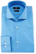 HUGO BOSS Jason Slim-Fit Pindot Dress Shirt, Blue