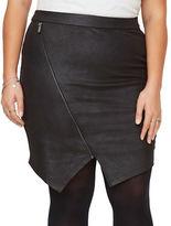 Junarose Fitted Asymmetric Hem Skirt