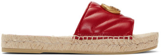 Gucci Red Charlotte Espadrille Sandals